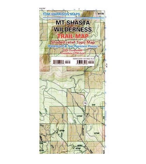Mt Shasta Wilderness Tom Harrison Trail Map Granite Chief