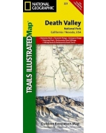 Death Valley National Park National Geographic Trails Illustrated Topographic Map