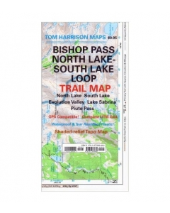 Bishop Pass, North Lake & South Lake Loop Trail Map | Tom Harrison Maps