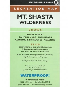 Mt. Shasta Wilderness Recreation Map | Wilderness Press