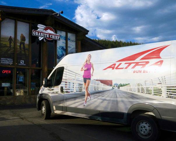 Altra Running Van at Granite Chief