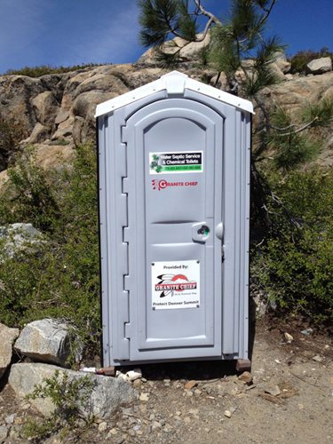 The Granite Chief Outhouse has arrived!