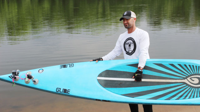 Shane Perrin Sets New SUP Still Water Record: 95.6 miles in 24 hours