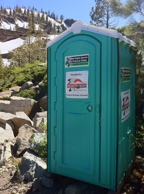 Granite Chief Porta Potty Donner Summit Snowshed Wall