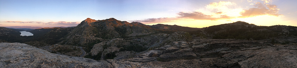donner summit rock climbing panorama