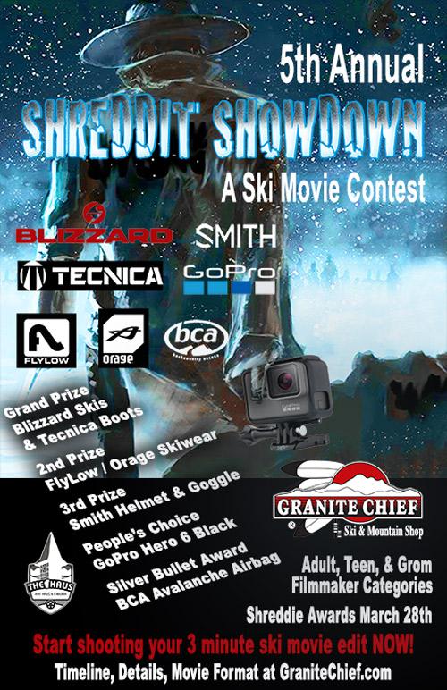 Granite Chief's 5th Annual Shreddit Showdown | Ski Movie Contest Details