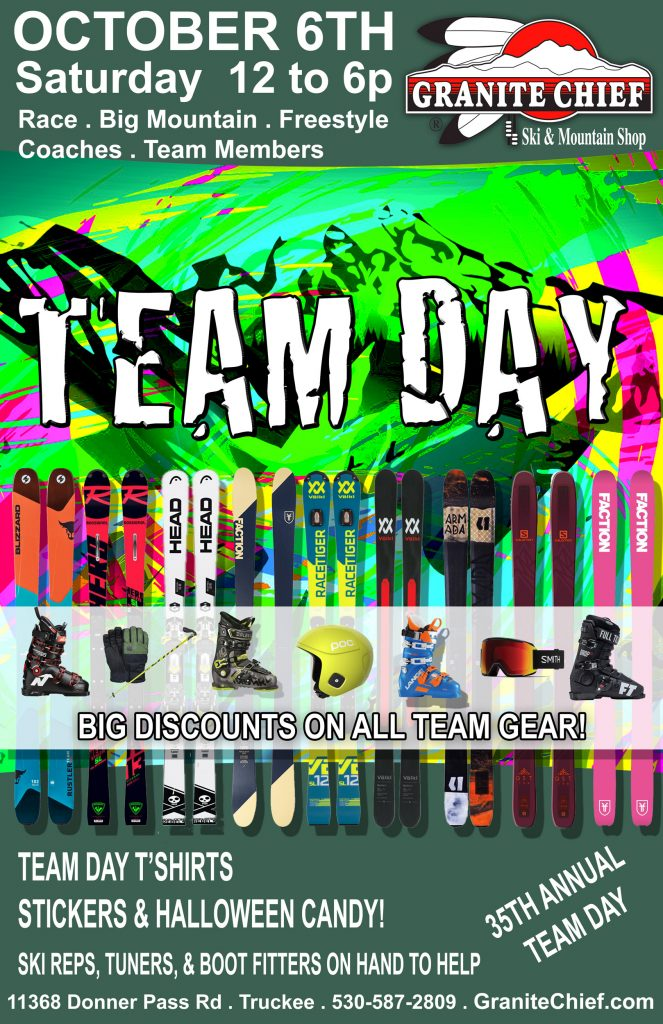 Team Day Discounts October 6