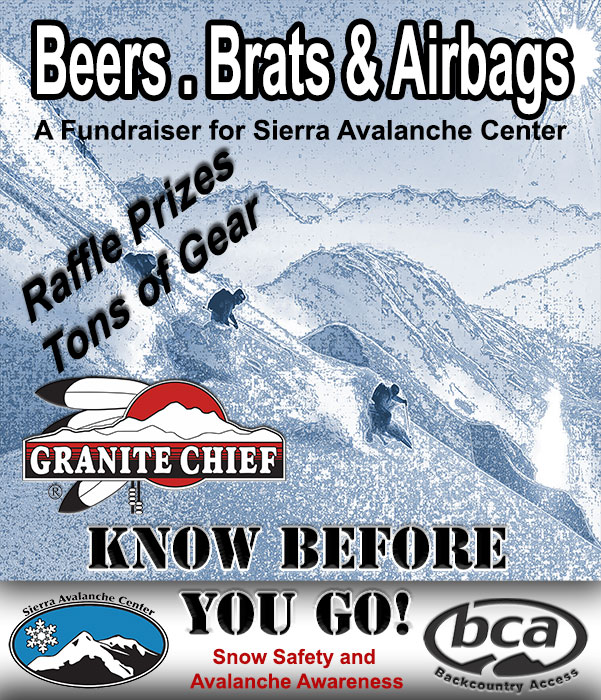 BEERS . BRATS & AIRBAGS  |  Sierra Avalanche Center Fundraiser