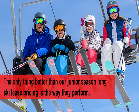 Junior Ski Lease Days | Season Long Ski Lease