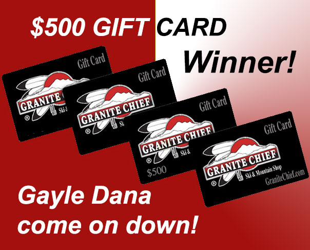 And the Winner of Our Gift Card Drawing Is.....