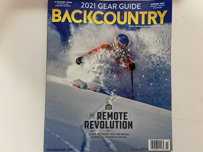 Employee Helps Test Skis For Backcountry Mag!