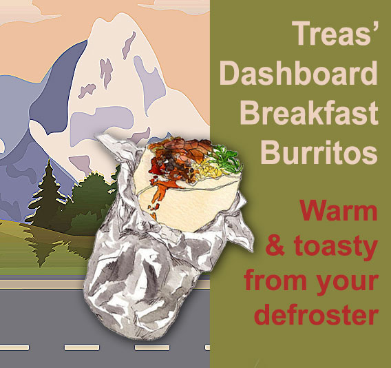 Breakfast on the Road | My Dashboard Breakfast Burritos are Raring to Go!