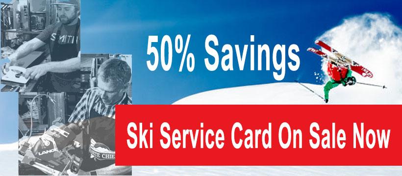 Ski Service Card Annual Sale   Big Savings   Lots of Perks